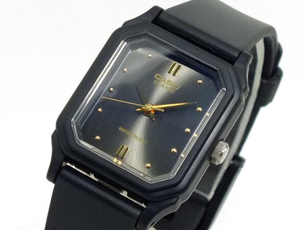 【メール便】カシオ CASIO クオーツ 腕時計 レディース LQ-142E-1A メタルブラック ウォッチ 時計 うでどけい