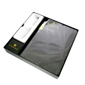クロス CROSS ペン ノートブック付き メンズ レディース 3502-1M ギフトボックス シルバー ブラック