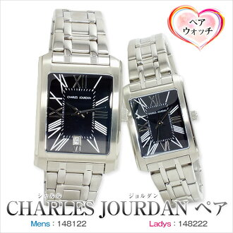 Debuted CHARLES JOURDAN quartz palocci pair watches couple watches 148122-148222