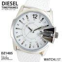 ディーゼル DIESEL クオーツ メンズ 腕時計 DZ1405 ホワイト メンズ Mens 革ベルト ウォッチ 時計 うでどけい