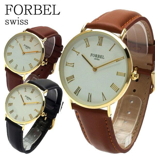 フォーベル FORBEL クオーツ ユニセックス 腕時計 FB-50509-CA キャメル