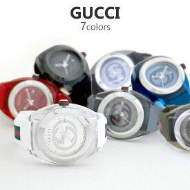 グッチ GUCCI 腕時計 メンズ シンク SYNC 46MM 選べる5color クオーツ ブラック ホワイト レッド グレー ネイビー 人気ブランド 彼氏 旦那 夫 男性 プレゼント ホワイトデー 誕生日プレゼント ギフト スポーティー