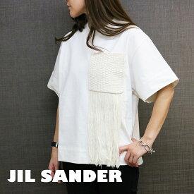 ジルサンダー Tシャツ カットソー レディース クルーネック JSPS707051 WS248508 100 選べる3size JIL SANDER リラックスフィット&ボクシーシェイプ コットンジャージー 半袖 女性 彼女 嫁 娘 お母さん 誕生日プレゼント
