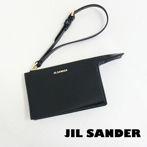 ジルサンダー カードケース カードホルダー レディース メンズ JILSANDER JSPS840160 WSS00080N 001 TOOTIE CARD HOLDER レザー ストラップ付き 小物入れ 男性 彼氏 女性 彼女 誕生日プレゼント