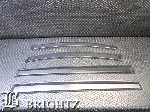 【 BRIGHTZ プレマシー CR サイドドアバイザー 金具付 】 【 INJ−V−64 】 サイド ウィンドウ ウインドウ 窓 雨 プロテクター ウェザーガード