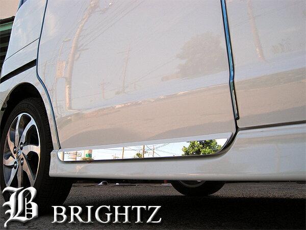 【 BRIGHTZ パレットSW K21系 超鏡面ステンレスメッキスライドドアアンダーライン 2PC 】 【 SID−MOL−075 】