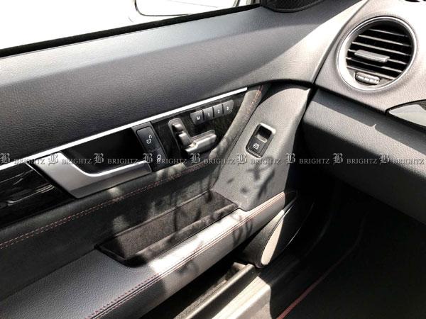 【 BRIGHTZ Cクラス W204 ドアポケットボックス ブラック Bタイプ 】 【 DOOR−POC−002 】 204 セダン C180 C200 C250 C300 C350 C63 AMG メルセデスベンツ ブラバス ロリンザー カールソン Lorinser Carlsson BRABUS Mercedes-Benz Mercedes Benz
