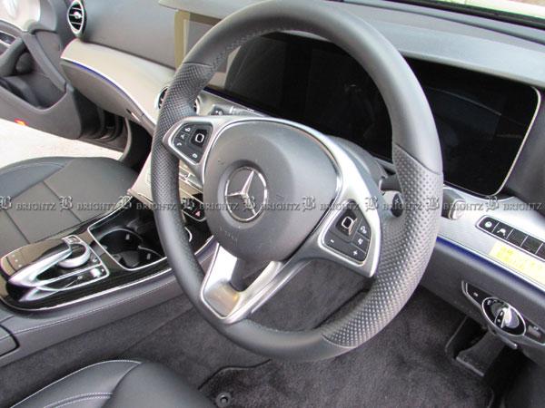 【 BRIGHTZ Cクラス W204 ステアリングスポークカバー サテンシルバー 】 【 INT−ETC−033 】W 204 セダン C180 C200 C250 C300 C350 C63 AMG メルセデスベンツ ブラバス ロリンザー カールソン Lorinser Carlsson BRABUS Mercedes-Benz