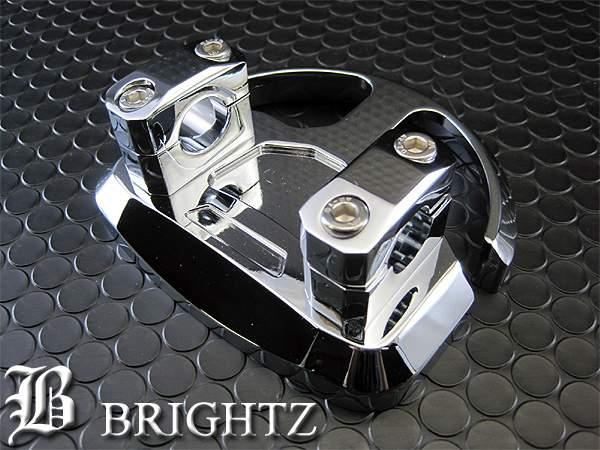 【 BRIGHTZ スカイウェイブ 250cc 400cc CJ/CK44-46A アルミ削り出しクロームメッキハンドルポスト本体 Bタイプ 】