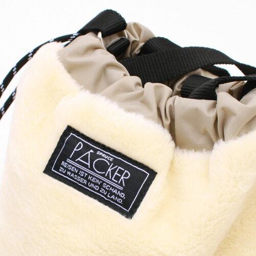 【お盆限定ポイント2倍】エコファー 巾着 2WAYバッグ ファーショルダーバッグ