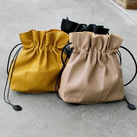 【0と5のつく日★20%OFFクーポン発行中】スムース 巾着バッグ ショルダー紐付き 2way ネコポス送料無料