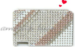 ◆『lovers white...』◆ミンティアケースラバーズホワイトスワロフスキークリスタル(シルバー台)【designed by amorous∝luxe】同デザインでフリスクケース・携帯デコもあります☆【Marathon10P05Sep1