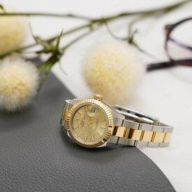 ロレックス デイトジャスト28 279173 シャンパン オイスターブレス ROLEX 新品レディース 腕時計 送料無料