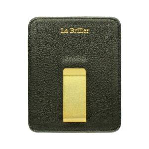 【手染め本革】【送料無料】LaBriller(ラブリエ)レザーマネークリップ「Dansunepoche/ダン・ユヌ・ポッシュ」【薄い財布】