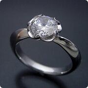 1カラット版:リーフデザイン伏せこみタイプの婚約指輪