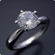 1カラット版:珍しい5本爪の婚約指輪