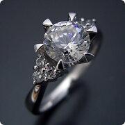 1カラット版:6本爪ゴージャスデザインの婚約指輪