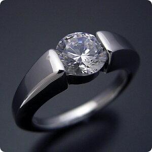 【婚約指輪】1カラット【1ct】ダイヤモンド【エンゲージリング】プラチナ【ブライダルジュエリー】結婚指輪【マリッジリング】受注生産品【1カラット版:スッキリとスタイリッシュな婚