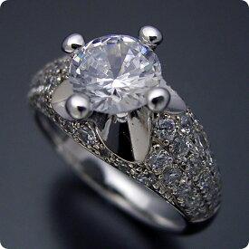 【婚約指輪】ダイヤモンド【1ct】1カラット【エンゲージリング】プラチナ【ブルガリ】ジュエリー【ブライダル】結婚指輪【マリッジリング】受注生産品【1ct版:柔らかい印象の可愛い婚約指輪】Dカラー・VVS1クラス・Excellentカット【宝石鑑定書付き】