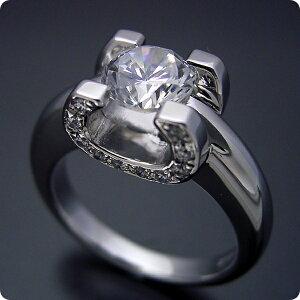 【婚約指輪】ダイヤモンド【1ct】1カラット【エンゲージリング】プラチナ【カルティエ】ジュエリー【ブライダル】受注生産品【1ct版:柔らかい印象の可愛い婚約指輪】【ブランドジュエリ