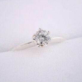 1万円 婚約指輪 一万円 プロポーズ用リング 告白用 サプライズ用 エンゲージリング 一粒 ブライダルジュエリー シルバー キュービックジルコニア どの指輪のデザインとも違う、6本爪ティファニーセッティングタイプの婚約指輪 送料無料