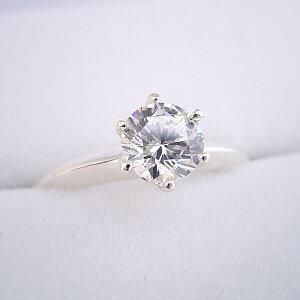 【婚約指輪】ダイヤモンド【1ct】1カラット【エンゲージリング】ティファニー【ブライダル】受注生産品【1カラット版:どの指輪のデザインとも違う、6本爪ティファニーセッティングタイ