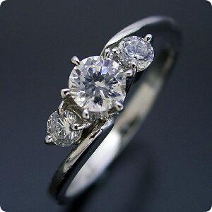 30万円 婚約指輪 0.5カラット ティファニー エンゲージリング 一粒 ダイヤモンド プロポーズ用 ブライダルジュエリー プラチナ 6本爪サイドメレデザインの婚約指輪 Gカラー・Si1クラス・Goodカ