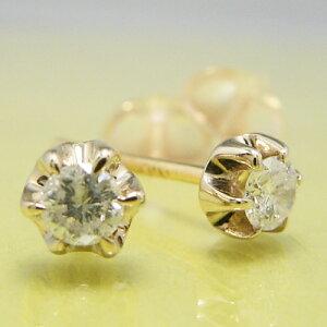 ティファニータイプ6本爪スタッドピアス・K18ゴールド・ダイヤモンド合計0.10カラット