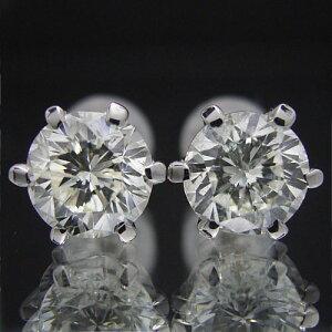 ティファニータイプ6本爪スタッドピアス・プラチナ・ダイヤモンド合計2.0カラット