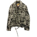 SUPREME(シュプリーム)18AW ×COMME des GARCONS SHIRT×Schott Painted Perfecto Leather Jacket ×コムデギャルソン…