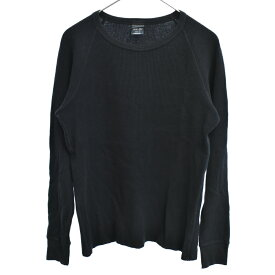 NUMBER (N)INE(ナンバーナイン)宮下期 ワッフルサーマル長袖Tシャツ ブラック カットソー【中古】【程度AB】【カラーブラック】【オンライン限定商品】
