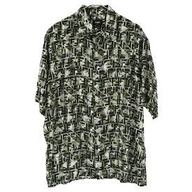 FENDI(フェンディ)ズッカ FF総柄 半袖ボタンシャツ 半袖シャツ FS0770【中古】【程度AB】【カラーグリーン】【オンライン限定商品】