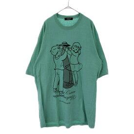 UNDERCOVER(アンダーカバー)19SS UFO ビッグTシャツ オーバーサイズ 半袖Tシャツ ライトグリーン UCW1892-3【中古】【程度A】【カラーグリーン】【オンライン限定商品】