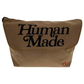 HUMAN MADE(ヒューマンメイド)×Girls Don't Cry 20AW MESSENGER メッセンジャーショルダーバック オリーブ【新古品/中古】【程度S】【カラーベージュ】【オンライン限定商品】