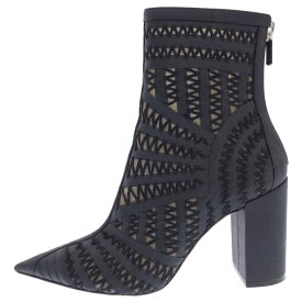 Christian Dior(クリスチャンディオール)メッシュ編み込みデザインバックジップブーツ ヒール ブラック レディース【中古】【程度A】【カラーブラック】【オンライン限定商品】