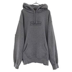 SUPREME(シュプリーム)21SS ×KAWS Chalk Logo Hooded Sweatshirt カウズ チョークボックスロゴ スウェット パーカー グレー【中古】【程度A】【カラーグレー】【取扱店舗心斎橋】