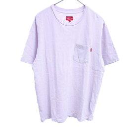SUPREME(シュプリーム)17SS Pocket Tee 胸ポケット半袖Tシャツ ピンク【中古】【程度B】【カラーピンク】【オンライン限定商品】
