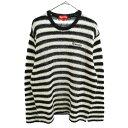SUPREME(シュプリーム)19AW Stripe Mohair Sweater ボーダー柄モヘアニットセーター ブラック/ホワイト【中古】【程度…