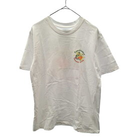 CASABLANCA(カサブランカ)21SS Tennis Club Icon T-Shirt テニスクラブアイコンプリント 半袖Tシャツ ホワイト MS21-TS-001【中古】【程度AB】【カラーホワイト】【取扱店舗渋谷】