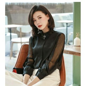 レディース ブラウス かわいい 通勤 オフィス お嬢様 韓国 ファッション セレブ 20代 30代 40代 50代 M-2XL ブラック ベージュ グリーン