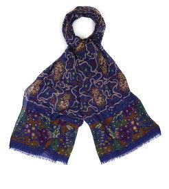 【SALE/セール】【DRAKE'S/ドレイクス】ペイズリースネイクプリントスカーフ(ペイズリー スネイク プリント ストール スカーフ イタリア製)