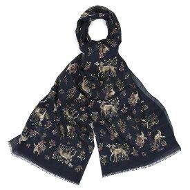 【SALE/セール】【DRAKE'S/ドレイクス】ドッグプリントウールシルクスカーフ(ドッグ アニマル プリント ストール スカーフ イタリア製)
