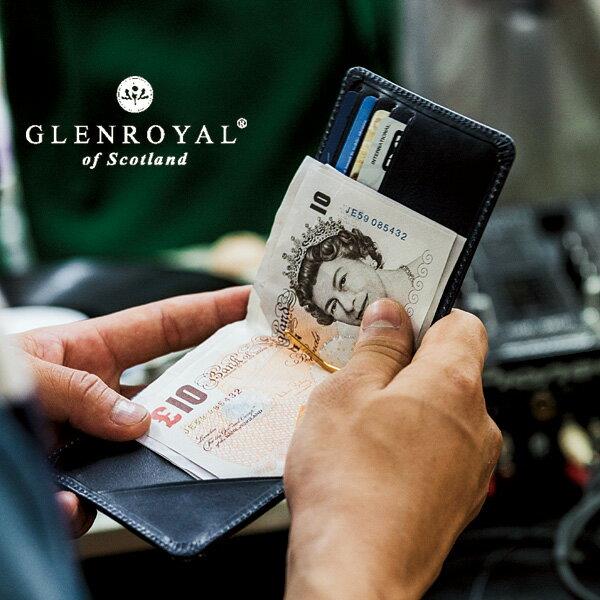 【GLENROYAL/グレンロイヤル】MONEY CLIP WITH COIN POCKET(フルブライドル)(マネークリップ メンズ レディース レザー 本革 財布 小銭 カード 誕生日 ギフト)