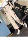 送料無料 レディースパンツ ガウチョパンツ ワイドパンツ レディース ロング丈 体型カバー 春夏 きれいめ カジュアル フレアパンツ シンプル スカーチョ オフホワイト ベージュ ブラック S M L XL