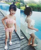 水着キッズセパレート子供水着2点セット子供女児水着韓国子供服子供服かわいい可愛い海川プール新作水着女の子80cm90cm100cm110cm120cm