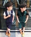 送料無料 韓国風 ストラップ柄 上下4点セット 子供スーツベスト 半ズボン 入学式スーツ フォーマル 七五三 男の子 夏…