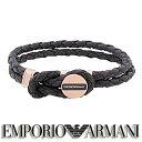 エンポリオ アルマーニ EMPORIO ARMANI ブレスレット レザー EGS2177221 ステンレスアクセサリー