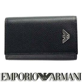 エンポリオ アルマーニ キーケース EMPORIO ARMANI メンズ ブラック YEMG68 YAQ2E 81072