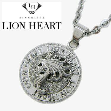 ライオンハート ネックレス メンズ LION HEART Howl コインペンダント 04N144SM ステンレスネックレス