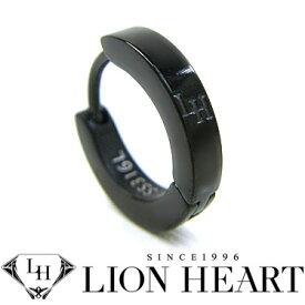 ライオンハート ピアス LION HEART シングルフープピアス メンズ LHMP006NBK ステンレスアクセサリー